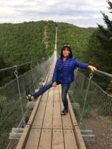 Ich auf der Geyerley Hängebrücke